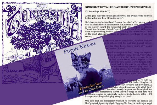 Terrascope Review - Kimberley Rew and Lee Cave-Berry Purple Kittens album