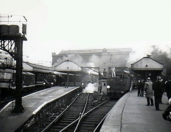 Trains at waterloo Station, London 1967